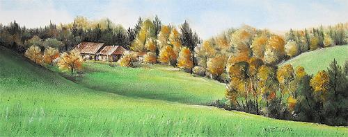 Konrad Zimmerli, Im Lehgrabe, Landscapes: Autumn, Nature: Wood, Naturalism