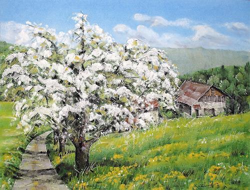 Konrad Zimmerli, Frühling, Landscapes: Spring, Nature: Miscellaneous, Naturalism