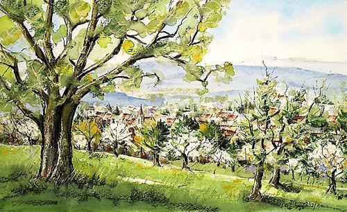 Konrad Zimmerli, Zofingen, Landscapes: Spring, Miscellaneous Landscapes, Naturalism