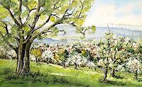 Konrad-Zimmerli-Landscapes-Spring-Miscellaneous-Landscapes-Modern-Age-Naturalism