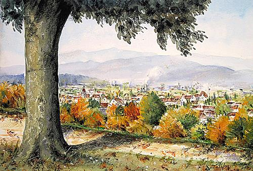 Konrad Zimmerli, Heiternplatz, Landscapes: Autumn, Nature: Wood, Naturalism