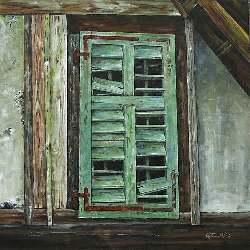 Konrad Zimmerli, Schönes Alter, Buildings: Houses, Decorative Art, Abstract Art, Expressionism