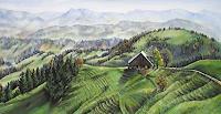 Konrad-Zimmerli-Landscapes-Hills-Landscapes-Autumn-Modern-Age-Abstract-Art