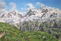 Konrad-Zimmerli-Landscapes-Mountains-Landscapes-Summer-Modern-Age-Naturalism