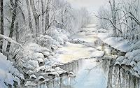 Konrad-Zimmerli-Landscapes-Winter-Nature-Water