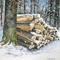 Konrad-Zimmerli-Landscapes-Winter-Nature-Wood-Modern-Age-Naturalism