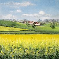 Konrad-Zimmerli-Landscapes-Spring-Nature-Miscellaneous-Modern-Age-Abstract-Art