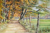 Konrad-Zimmerli-Landscapes-Autumn-Nature-Wood-Modern-Times-Realism
