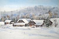 Konrad-Zimmerli-Landscapes-Winter-Interiors-Villages-Modern-Age-Abstract-Art
