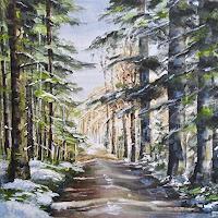 Konrad-Zimmerli-Nature-Wood-Landscapes-Winter-Modern-Age-Naturalism