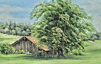 Konrad-Zimmerli-Landscapes-Summer-Plants-Trees-Modern-Age-Naturalism