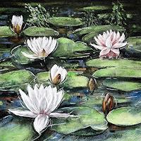 Konrad-Zimmerli-Landscapes-Summer-Plants-Flowers-Modern-Age-Naturalism