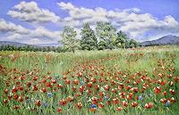 Konrad-Zimmerli-Landscapes-Summer-Nature-Miscellaneous-Modern-Age-Naturalism