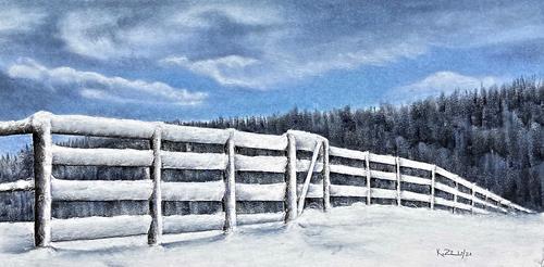 Konrad Zimmerli, Kälte, Landscapes: Winter, Nature: Miscellaneous, Naturalism, Expressionism