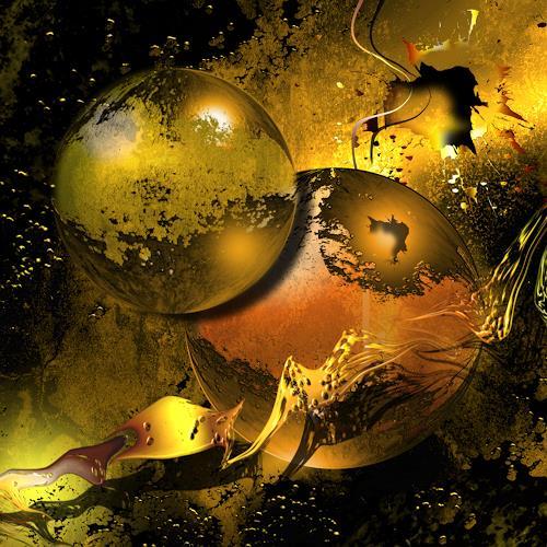 Franziskus Pfleghart, Golden Things, Abstract art, Abstract art, Abstract Art, Expressionism