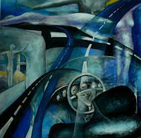 Anja-Muenter-Traffic-Car-Erotic-motifs-Female-nudes-Contemporary-Art-Contemporary-Art