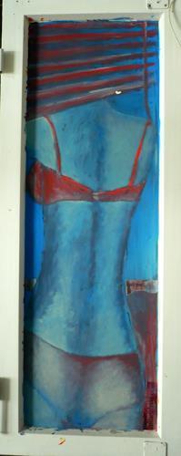 Anja Münter, zimmer mit ausblick, Erotic motifs: Female nudes, Decorative Art, Contemporary Art