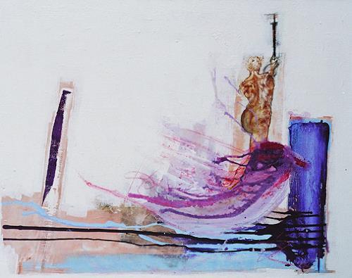 Christa Hartmann, Die ewige Versuchung, Abstract art, Fantasy, Modern Age, Expressionism