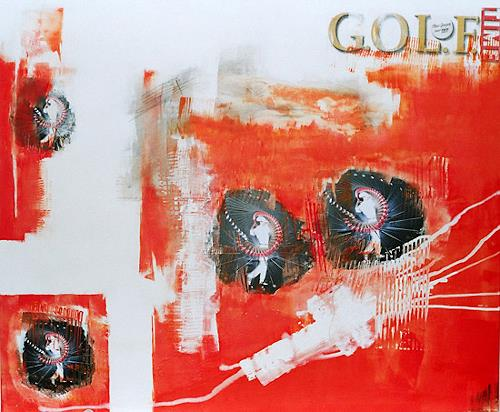 Christa Hartmann, The Best of Golf, Abstract art, Fantasy, Modern Age