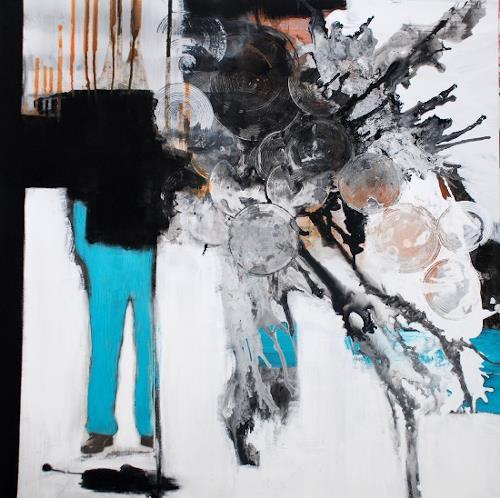 Christa Hartmann, Und grün des Lebens goldener Baum, Abstract art, Fantasy, Modern Age, Abstract Expressionism