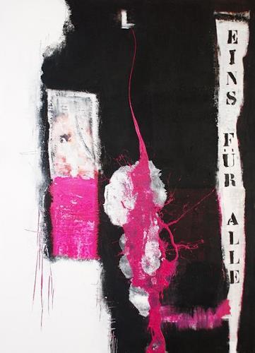 Christa Hartmann, EINS  FÜR  ALLE, Abstract art, Fantasy, Modern Age
