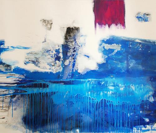 Christa Hartmann, Gezeitenmix  I, Abstract art, Fantasy, Modern Age, Expressionism