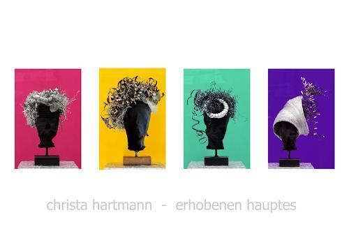 Christa Hartmann, Erhobenen Hauptes, People, Abstract art, Photo-Realism