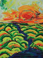 Maria-Osning-Landscapes-Autumn-Nature-Earth-Modern-Age-Expressionism
