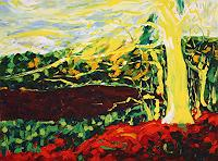 Maria-Osning-Landscapes-Autumn-Nature-Wood-Modern-Age-Expressionism