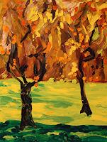 Maria-Osning-Landscapes-Autumn-Nature-Miscellaneous-Modern-Age-Expressionism