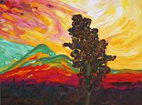 Maria-Osning-Landscapes-Mountains-Modern-Age-Expressionism