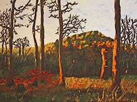 Maria-Osning-Landscapes-Mountains-Nature-Wood-Modern-Age-Impressionism-Post-Impressionism