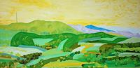 Maria-Osning-Landscapes-Hills-Landscapes-Summer-Modern-Age-Expressionism-Neo-Expressionism
