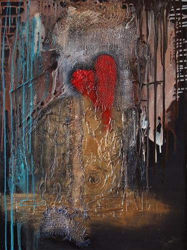 Barbara Vapenik, Broken Heart, Abstract art, Contemporary Art