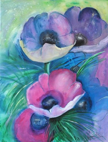 Barbara Vapenik, Mohnblumen, Plants: Flowers, Contemporary Art
