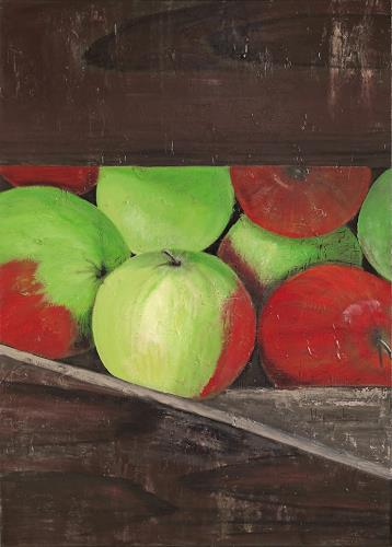 Barbara Vapenik, Apfelernte, Meal, Harvest, Contemporary Art, Abstract Expressionism