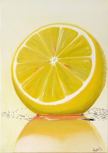 Barbara Vapenik, Zitrusfrucht, Plants: Fruits, Contemporary Art, Expressionism