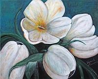 Barbara-Vapenik-Plants-Flowers-Still-life-Contemporary-Art-Contemporary-Art