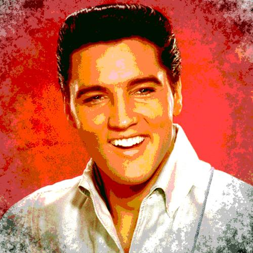 Arie Wubben, Elvis Presley, People: Men, Music: Musicians, New Image Painting