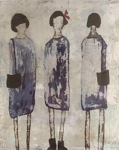 nanne hagendorff, Oh, ein schönes Kleid!, People, Abstract Art, Abstract Expressionism