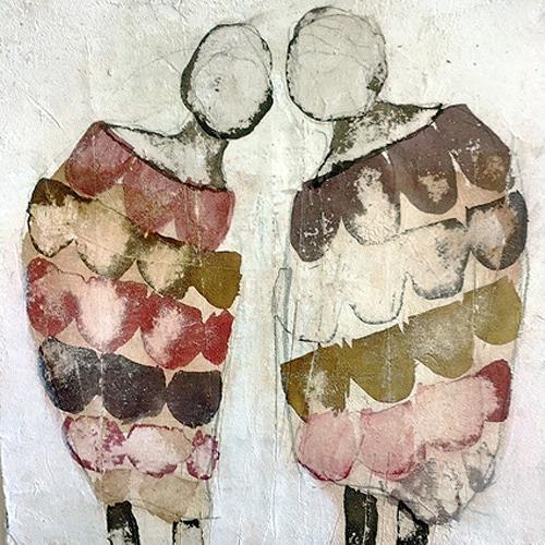 nanne hagendorff, Bisschen tratschen, People, Abstract Art, Abstract Expressionism
