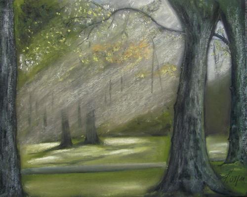 Beate Fritz, Ein schöner Herbsttag, Nature: Wood, Landscapes: Autumn, Abstract Art