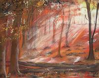 Beate-Fritz-Landscapes-Autumn-Plants-Trees-Modern-Age-Abstract-Art