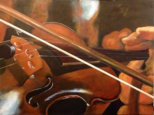 Beate Fritz, Die erste Geige..., Music: Instruments, Music: Concerts, Contemporary Art, Expressionism