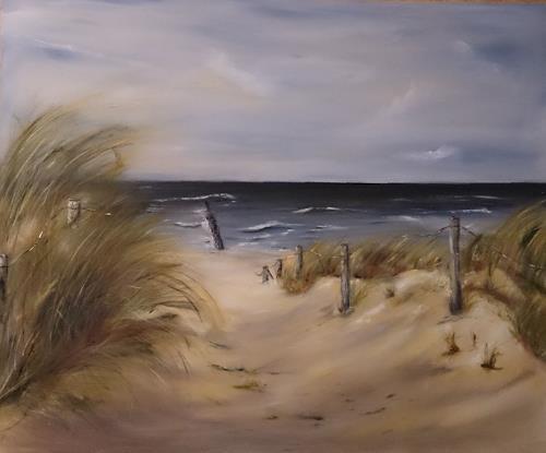 Beate Fritz, Ein Stück Heimat, Landscapes: Beaches, Landscapes: Sea/Ocean, Contemporary Art, Expressionism