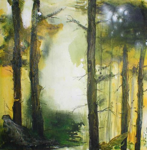 Beate Fritz, Zauberwald, Nature: Wood, Fantasy, Contemporary Art, Expressionism