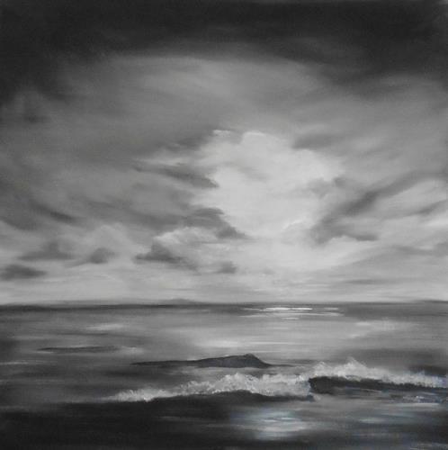 Beate Fritz, Lichtschimmer, Nature: Water, Miscellaneous Romantic motifs, Contemporary Art
