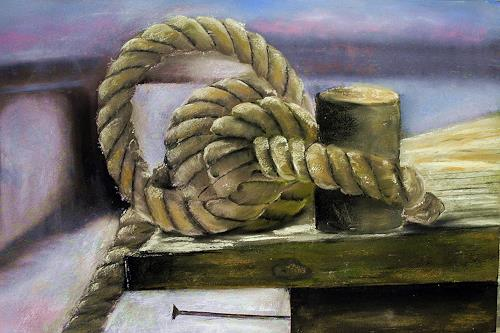 Beate Fritz, Landgang, Verkehr: Ship, Sports, Contemporary Art, Expressionism