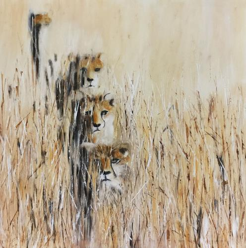 Beate Fritz, Pssst, Animals: Land, Miscellaneous Animals, Contemporary Art, Expressionism
