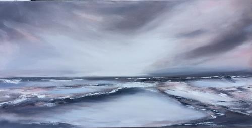 Beate Fritz, ...bis die Wolken wieder ...., Landscapes: Sea/Ocean, Nature: Water, Contemporary Art, Expressionism